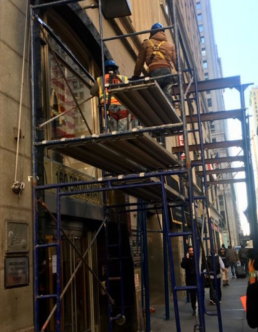 Construction workers in New York City