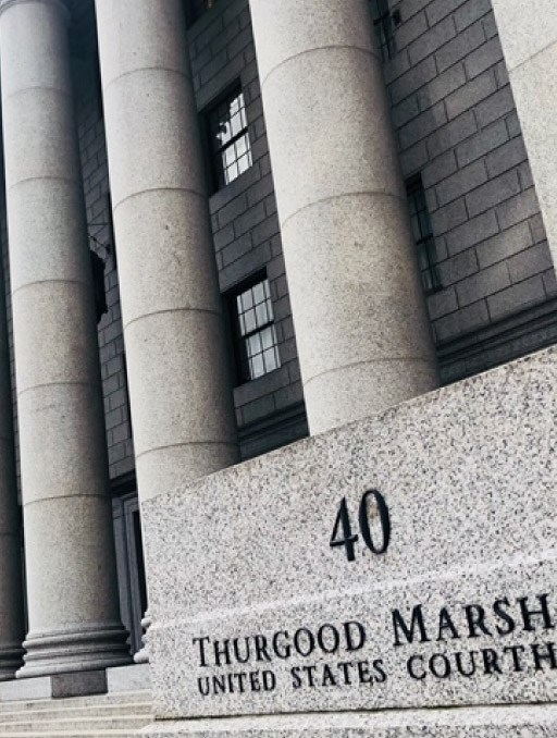 Front of Thurgood Marshall Courthouse
